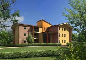Intervento di nuova costruzione di edifici posti a corte